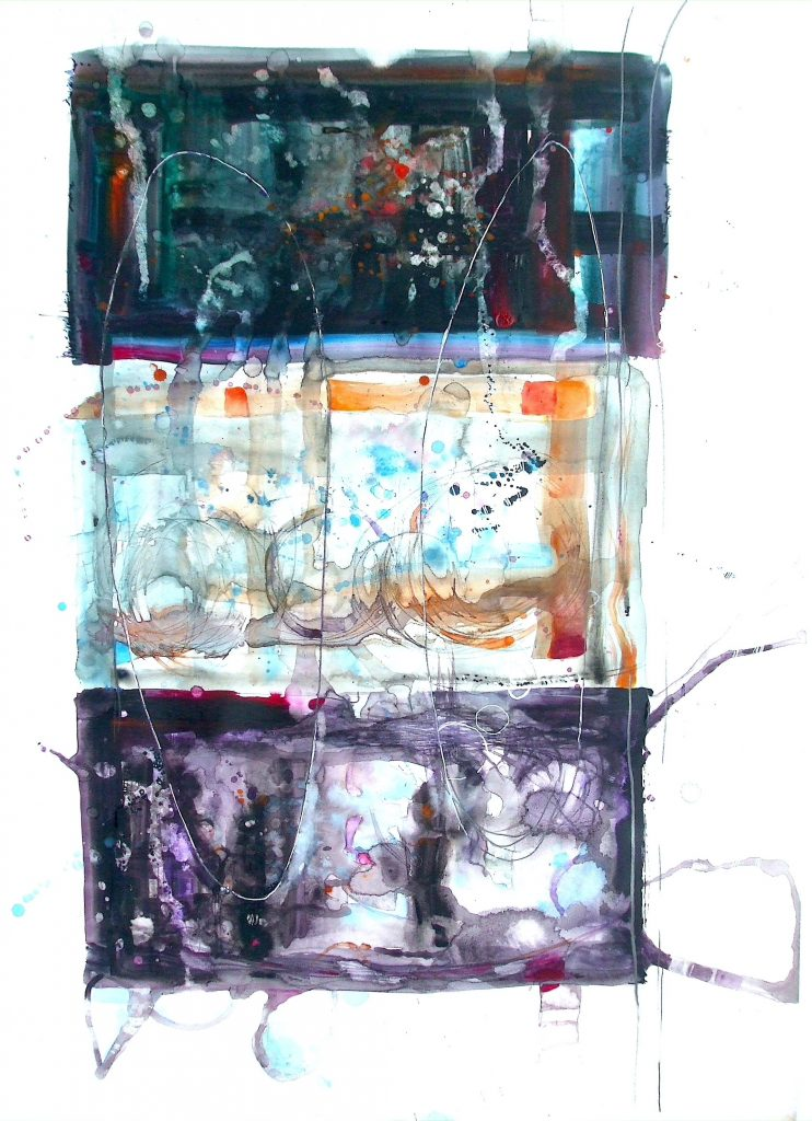 Three percussive blocks