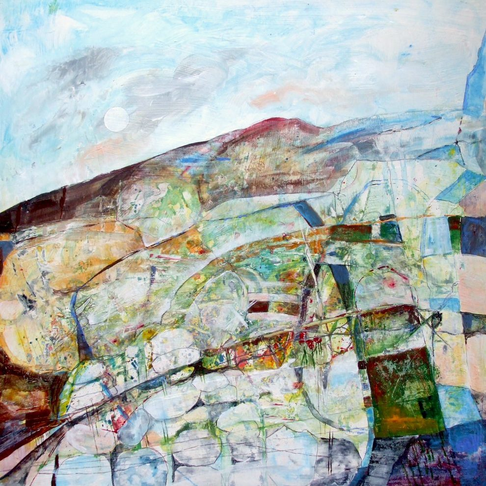 Stone wall, paths, moor